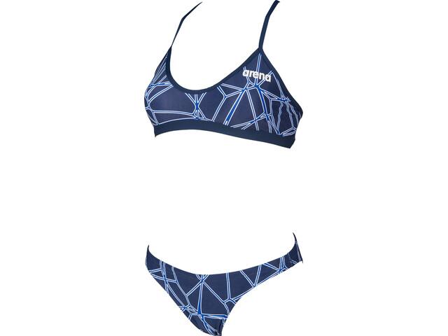 arena Carbonics Pro Maillot de bain 2 pièces Femme, navy/neon blue